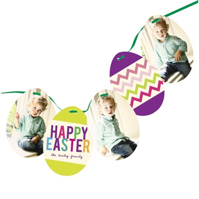 Zig Zag to Spring -- Photo Easter Cards