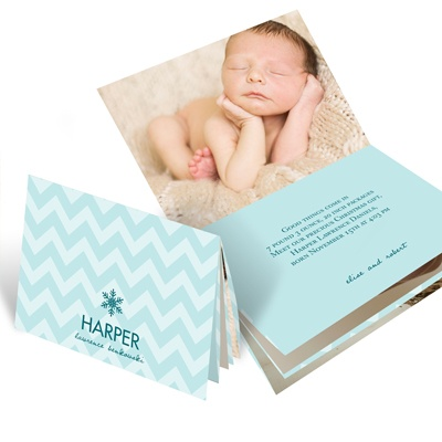 Creative Baby Booklet -- Holiday Photo Birth Announcements