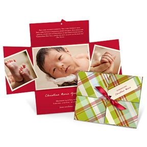 Wrapped Collage in Plaid -- Christmas Cards