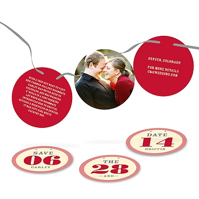 Ribbon Strand of Love Save the Date Photo Cards