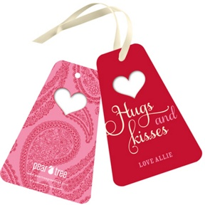 Special Cut Paisley -- Valentine Gift Tags
