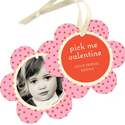 Photo Petals Valentine Gift Tags