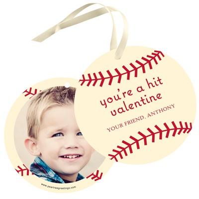 Vintage Baseball Valentine Gift Tags