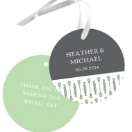 Symbolic Circles Wedding Favor Tags
