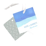 Vivid Blue Watercolor -- Wedding Favor Tags