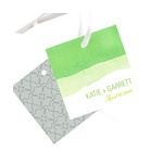 Vivid Green Watercolor -- Wedding Favor Tags