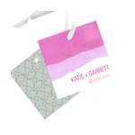 Vivid Pink Watercolor -- Wedding Favor Tags