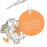 Blissful Blooms Wedding Favor Tags