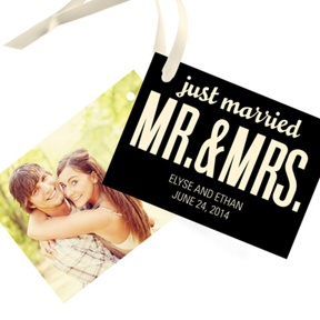 Tied Up In Love -- Wedding Gift Tags