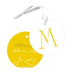 Monogram Meets Marriage -- Wedding Favor Tags
