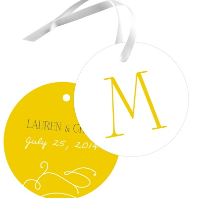 Monogram Meets Marriage Wedding Favor Tags