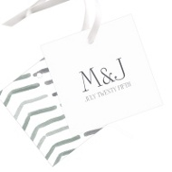 Chevron Dreams Wedding Gift Tags