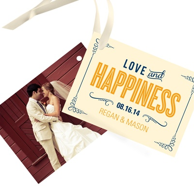 Happily Ever Headlines Wedding Favor Tags