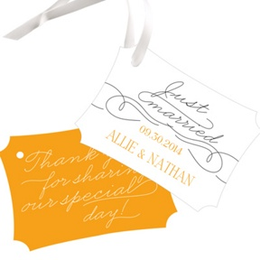 Sweetly Scripted -- Wedding Favor Tags