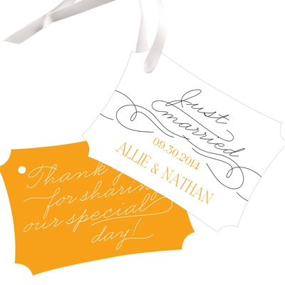 Sweetly Scripted Wedding Favor Tags
