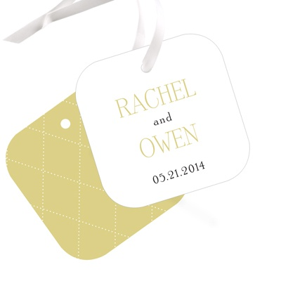 Diamond Detail -- Wedding Favor Tags