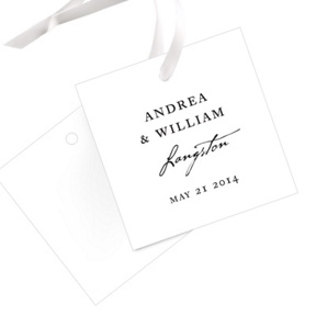 Timeless Ever After -- Wedding Favor Tags