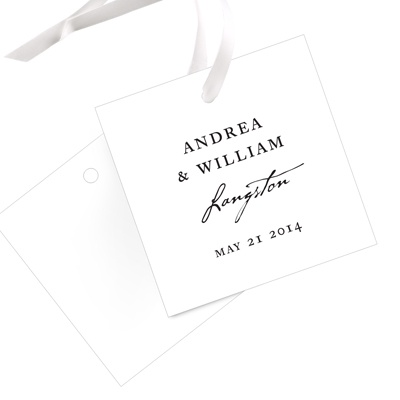 Timeless Ever After Wedding Favor Tags