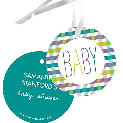 Precious Plaid -- Baby Shower Gift Tags