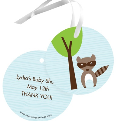 Nesting Outdoors Baby Shower Favor Tags
