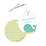 Striped Sea -- Baby Shower Gift Tags