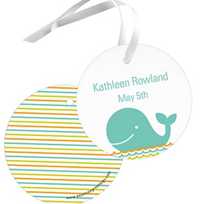 Striped Sea -- Baby Shower Favor Tags