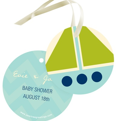 Nautical Newborn -- Baby Shower Gift Tags