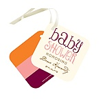 Welcoming Color Block -- Baby Shower Gift Tags