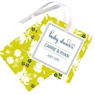 Blooming and Beaming Baby Shower Favor Tags