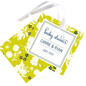 Blooming and Beaming -- Baby Shower Favor Tags