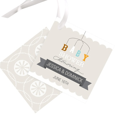 Mobile Memories Baby Shower Favor Tags