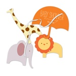 Safari Showers -- Animal Baby Shower Invitations