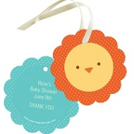 Safari Showers Baby Shower Favor Tags