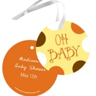 Whimsical Welcome Baby Shower Favor Tags