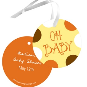 Whimsical Welcome -- Baby Shower Favor Tags