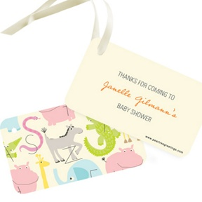 Alphabet Animals -- Baby Shower Favor Tags