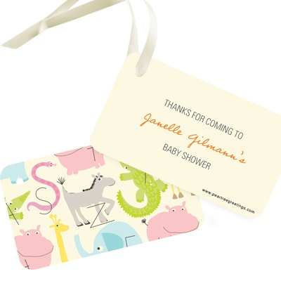 Alphabet Animals Baby Shower Favor Tags
