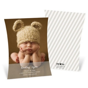 Curve Appeal Boy -- Birth Announcements