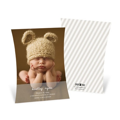 Curve Appeal Boy Birth Announcements