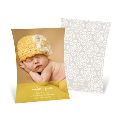 Curve Appeal Girl Birth Announcements