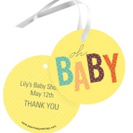 Baby Duckling Baby Shower Favor Tags
