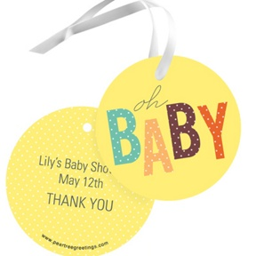 Baby Duckling -- Baby Shower Favor Tags