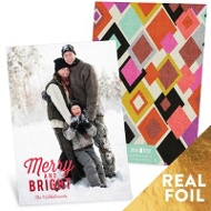 Merry & Bright Foil Christmas Cards