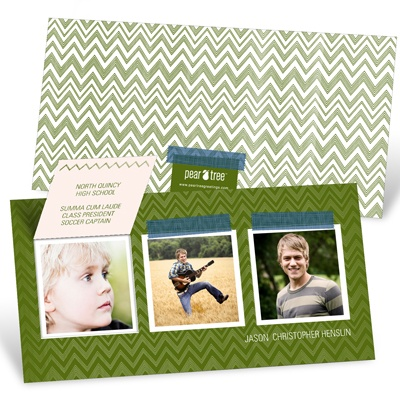 Chevron Memories Pop Up -- Graduation Invitations