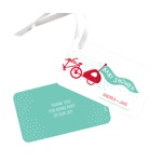 Double Bicycle And Baby Make Three -- Baby Shower Favor Tags