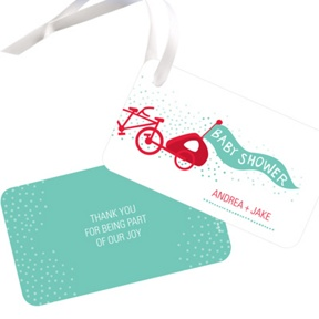 Baby Makes Three -- Baby Shower Favor Tags