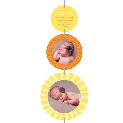 Radiant Bundle of Joy Baby Girl Announcements