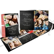 Flowing Holiday Cheer Ribbon Booklet Christmas Cards