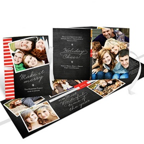 Flowing Holiday Cheer Ribbon Booklet -- Christmas Cards
