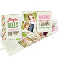 Blissful Bells Ribbon Booklet Christmas Cards